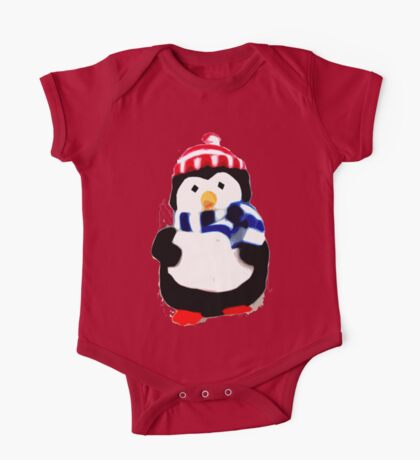 Cute Penguin T-shirt One Piece - Short Sleeve