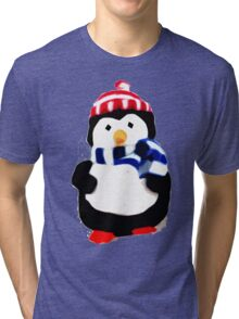 Cute Penguin T-shirt Tri-blend T-Shirt