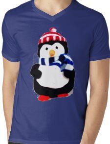 Cute Penguin T-shirt Mens V-Neck T-Shirt