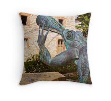 Chianti Frog Fountain Throw Pillow