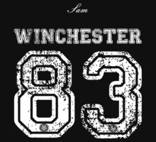 Team Sam Winchester white letters One Piece - Short Sleeve