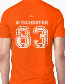 Team Sam Winchester white letters T-Shirt