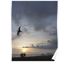 Evening Flight, Brighton Poster