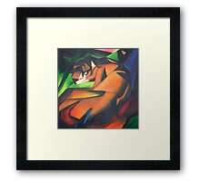Tiger After Franz Marc Framed Print