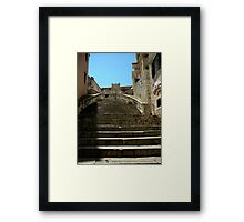 Stairway to Virgin Mary Assumption Cathedral, Dubrovnik. Framed Print