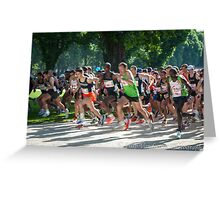 Start to run ! Greeting Card