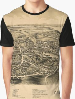 Panoramic Maps Catskill NY Graphic T-Shirt
