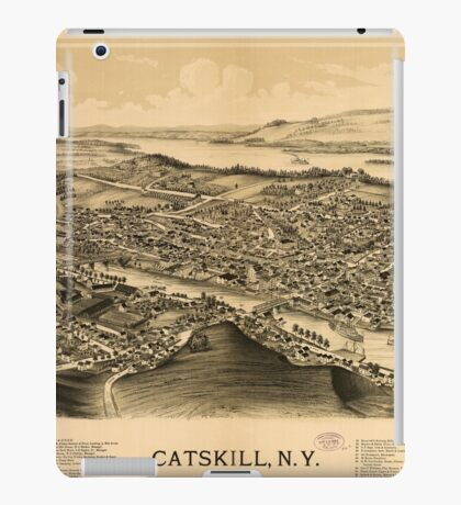 Panoramic Maps Catskill NY iPad Case/Skin