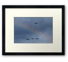 Memorial Day jet fly-over 2 Framed Print