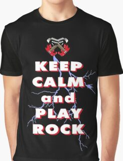 Keep calm and play rock Graphic T-Shirt