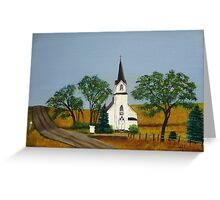 Church by the country road  Greeting Card