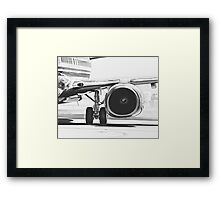 Boeing 737 & CFM56 Turbofan Engine Framed Print