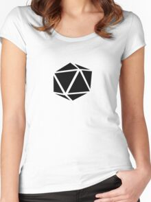 d20 (black) Women's Fitted Scoop T-Shirt