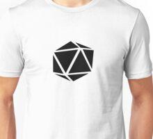 d20 (black) Unisex T-Shirt