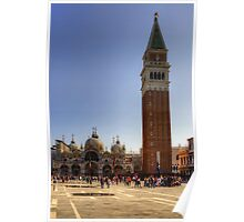 St Mark's Basilica and Camponile Poster