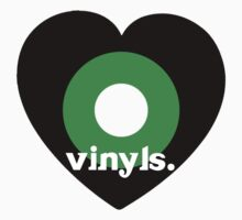 Love Vinyls Tee by TooManyPixels