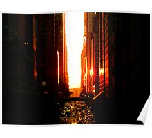 Manhattanhenge Sunset - Times Square - New York City Poster