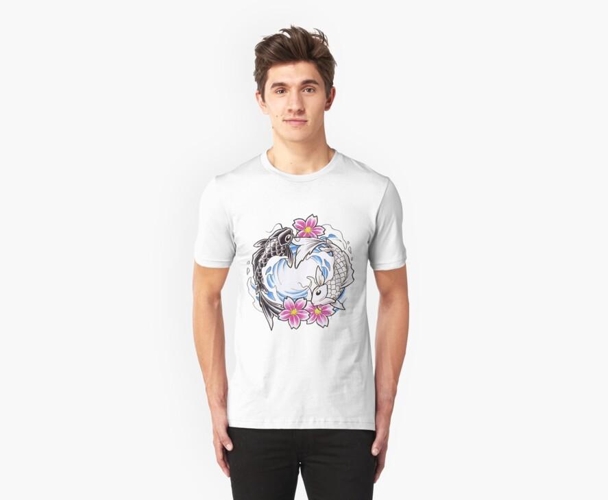 Yin Yang Chinese Koi Fish T-Shirt by AsianT-Shirts