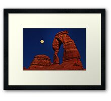 Moon Over Delicated Arch Framed Print