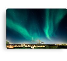 Northen lights over Reykjavík Canvas Print