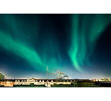 Northen lights over Reykjavík Photographic Print