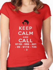 Moss Keep Calm And Call Women's Fitted Scoop T-Shirt