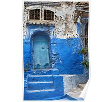 Blue city Chefchaouen, Morocco. Poster