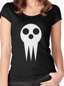 Soul Eater Skull - White Women's Fitted Scoop T-Shirt
