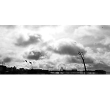 Blackpool in Black and White Photographic Print