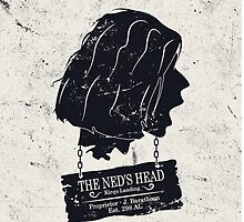 The Ned's Head (Black - iPhone Case) by maclac