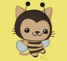 Bee Cat One Piece - Short Sleeve