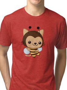 Bee Cat Tri-blend T-Shirt