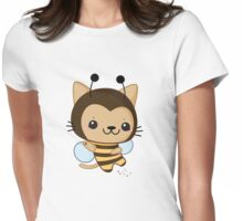 Bee Cat Womens Fitted T-Shirt