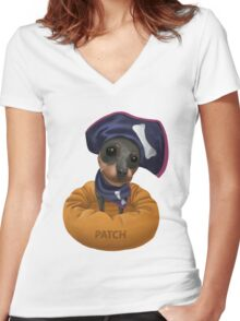 Patch Women's Fitted V-Neck T-Shirt