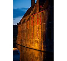 Brugge by night Photographic Print