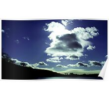 Clouds over Coniston Water Poster