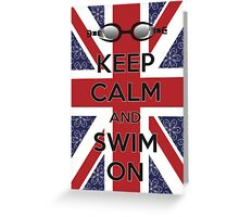 Swim London Greeting Card
