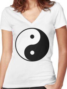Yin Yang T-Shirt Women's Fitted V-Neck T-Shirt