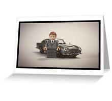 James Bond lego Greeting Card