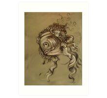 Fishy Da Vinci Sketch Art Print