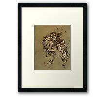 Fishy Da Vinci Sketch Framed Print