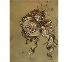 Fishy Da Vinci Sketch Photographic Print