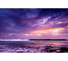 Sunset in Purple Photographic Print
