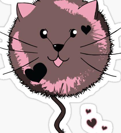 Kawaii Cat Ball Sticker