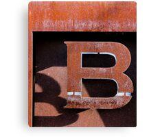 B Squared Canvas Print