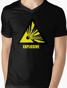 Explosive Character Mens V-Neck T-Shirt