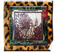 Henna Fire Fairy with Leopard Print By Cynthia McDonald Poster