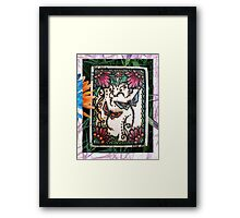 Henna Dragon Flys By Cynthia McDonald Framed Print