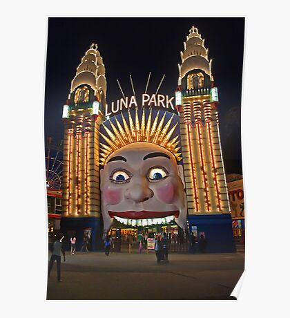 Old King Cole Welcome to Luna Park Poster
