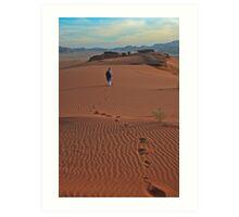 Walking Wadi Rum Art Print